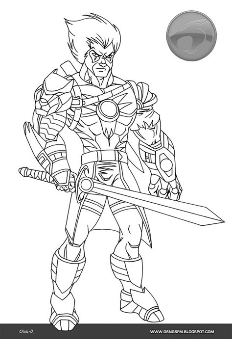 thundercats sword free colouring pages