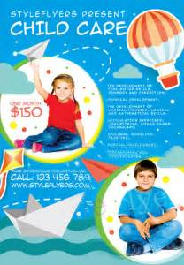 child care flyer templates child care free flyer template for photoshop
