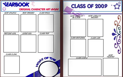 Yearbook Oc Art Meme By Trallt On Deviantart Blank Yearbook Templates