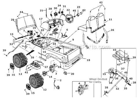 power wheels   parts list  diagram