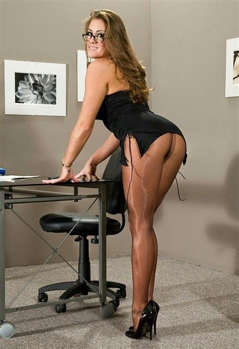 Stocking office milf