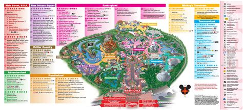 disney california adventure map disney park maps world map 07