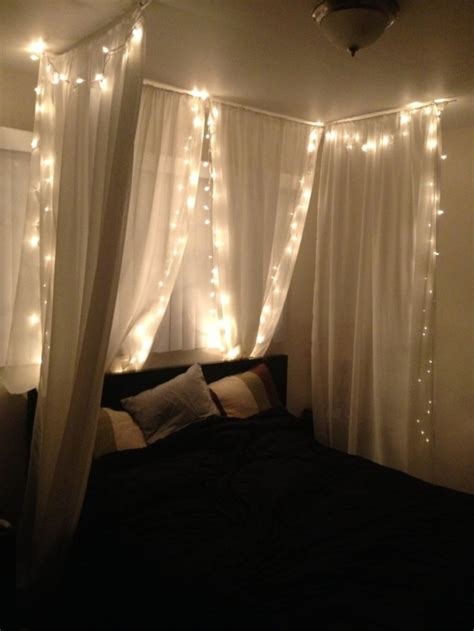 diy canopy bed with lights diy bed canopy under 50 joann s 84 quot home sheer fabric