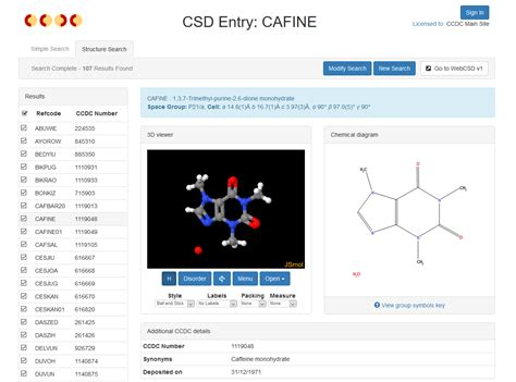 Ccdc Search Webcsd V2 Structure Search Is Now Even More Accessible The Cambridge