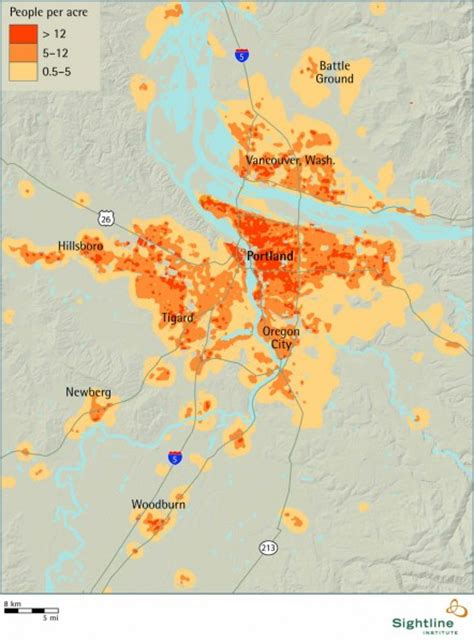 oregon population density map portland area population density sightline institute