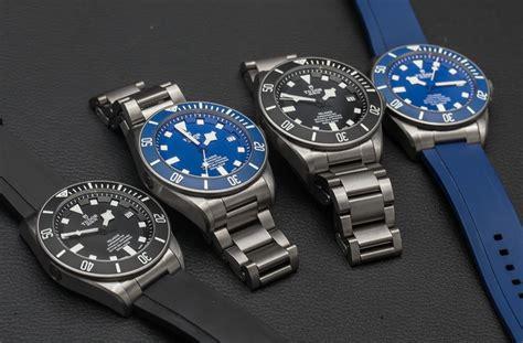 House Model Photos by Tudor Pelagos 25600tn Black 25600tb Blue Watches In House