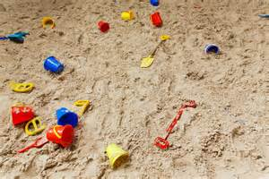 pit sand sand pit with toys free stock photo domain pictures