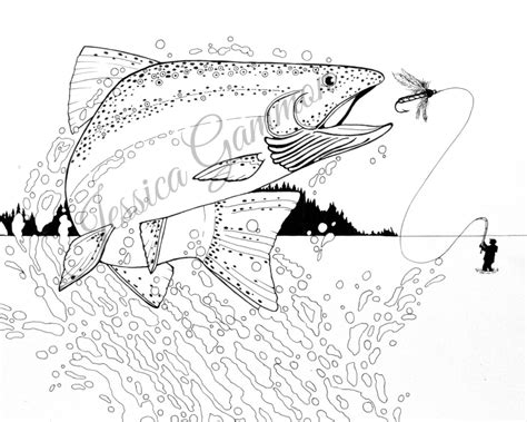 fishing coloring pages fly fishing coloring pages