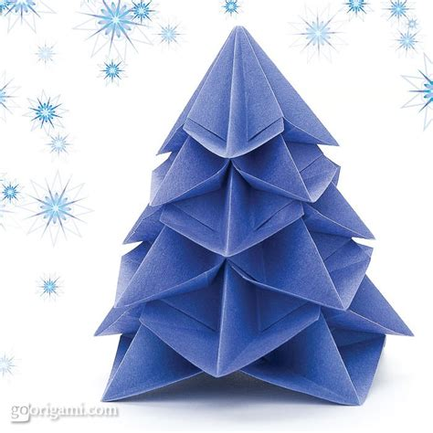 Origami Tree Ornament - extravaganza diy origami ornaments rukristin
