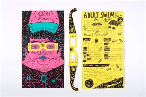 creative printing designs adult swim comic con brochure on behance