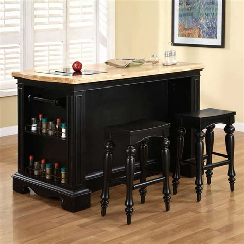 Black Kitchen Island With Seating by Portable Kitchen Island With Seating Home Interior Designs