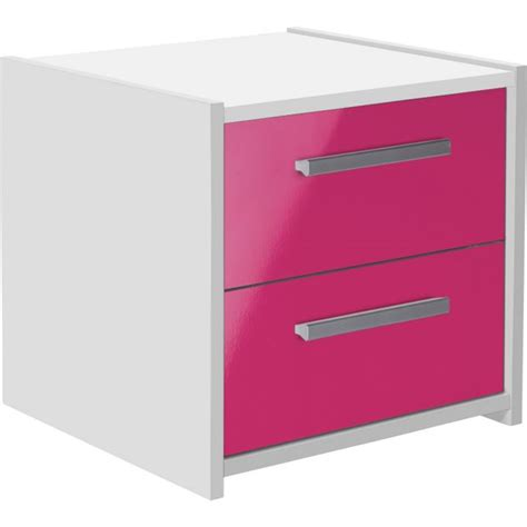 pink and white gloss bedroom furniture buy home new sywell 2 drw bedside chest white pink