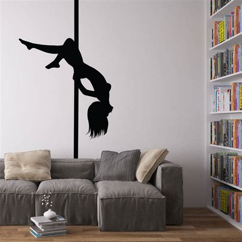 wall vinyl pole dancer vinyl wall art decal by vinyl revolution