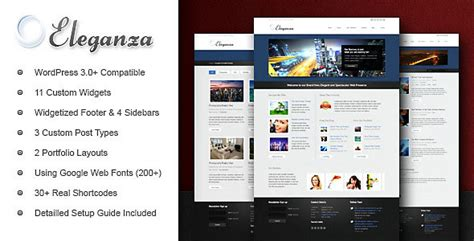 themeforest it company theme themeforest eleganza corporate business wp theme