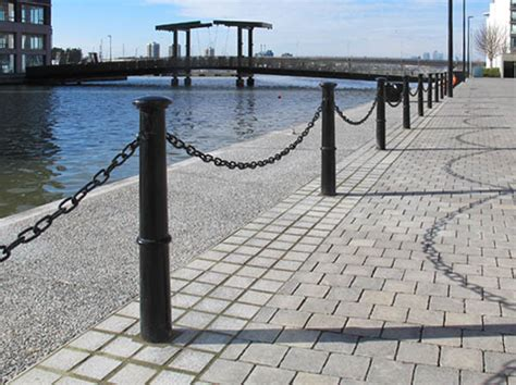 decorative bollards with chain brunel root fixed or removable cast iron bollard
