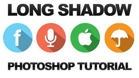 photoshop template long shadow how to make long shadow icons in photoshop cc cs6
