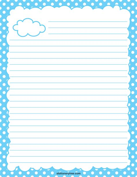 cloud writing paper printable cloud stationery