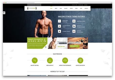 38 Best Wordpress Fitness Themes 2019 For Gym And Fitness Centers Colorlib Fitness Website Design Templates