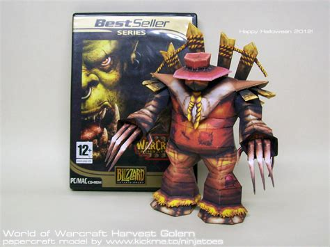 Wow Papercraft - papercraft world of warcraft harvest golem 3 by