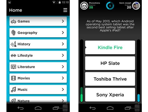 layout for quiz 8 of the best quiz and trivia games for android 2014 edition