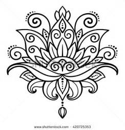 Lotus Flower Doodle Lotus Stock Images Royalty Free Images Vectors