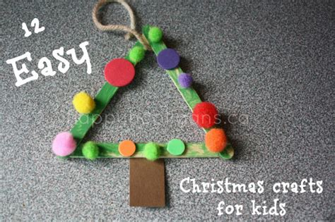 christmas crafts for kids easy homemade ornaments