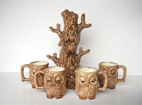 Vintage Owl Mug Tree   Coffee mug art   Pinterest