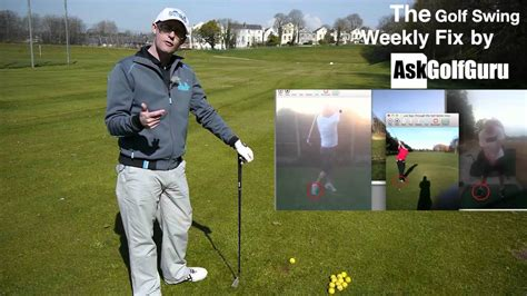 swing fix the golf swing weekly fix across the line and follow