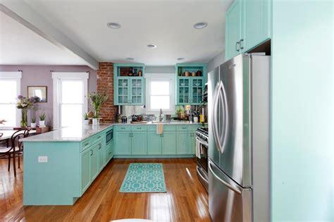 turquoise kitchen cabinets   kitchen styles homesfeed