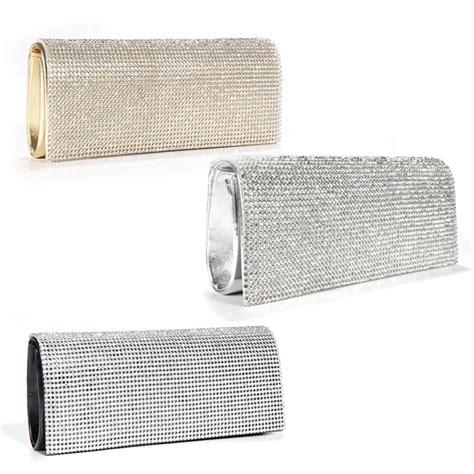 silver clutch bag ebay shimmering silver gold black diamante evening bag clutch