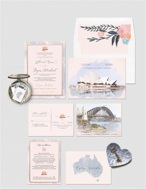 Wedding Invitations Sydney Australia sydney australia illustrated wedding invitation aisle