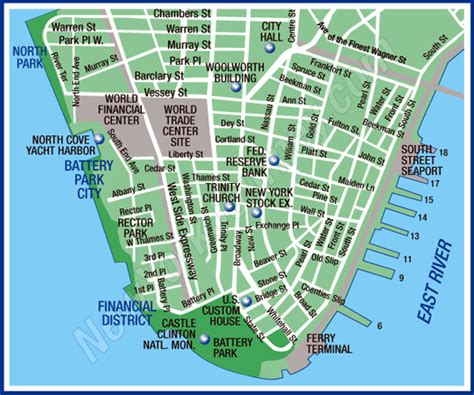 district map of nyc financial district battery park new york map area maps