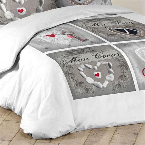 parure de lit 3 pieces 220x240cm cle d amour