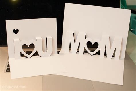 mothers day pop up card templates i you pop up cards with free silhouette cut