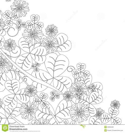 sketchbook clover clover sketch stock illustration image 55005406