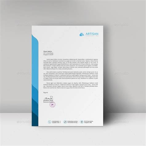 business letterhead design templates 12 free letterhead templates in psd ms word and pdf