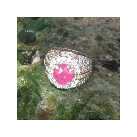 Cincin Ruby Afrika Ring Perak Bali cincin perak dengan permata ruby 3 07 carat harga promo