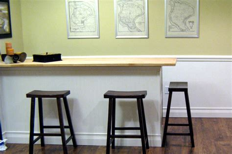 how to build a kitchen bar top how to build a bar with a butcher block countertop hgtv