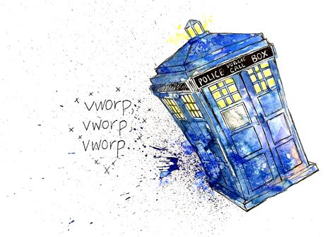Usb Tardis Complete With Vworp by Emily Norton Wibbly Wobbly Timey Wimey Illustrations