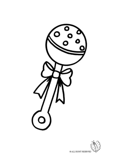 coloring page rattle coloring page of rattle for baby for coloring for kids