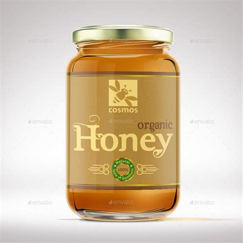 Honey Jar Label Template By Designer0007 Graphicriver Honey Jar Labels Template