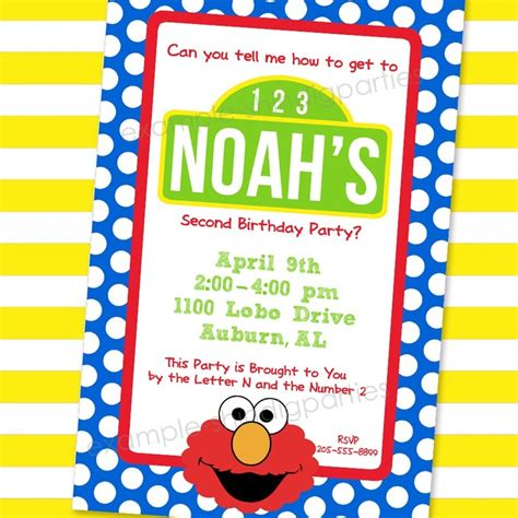 elmo template for invitations 119 best images about elmo sesame birthday on