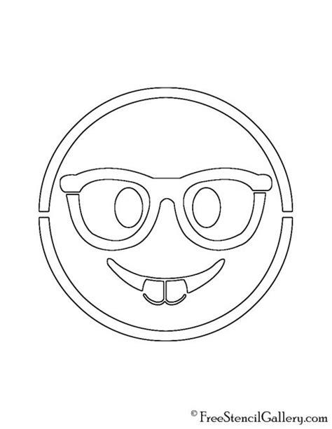 printable pumpkin stencils emoji emoji nerd stencil free stencil gallery