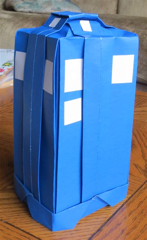 Origami Tardis - origami tardis tales of a house husband