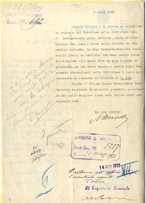 lettera all ufficio personale mostra le due vite di teresita agli inizi lavoro