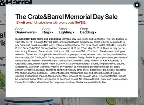 Furniture Crate Coupon by Crate Barrel Coupons Printable Coupons In Store Coupon Codes