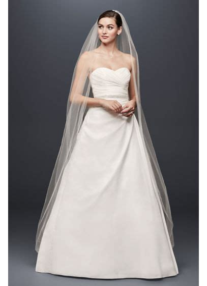 Taffeta Wedding Dress by Taffeta A Line Wedding Dress With Sweetheart Neck David