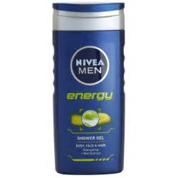 nivea energy shower gel on and hair