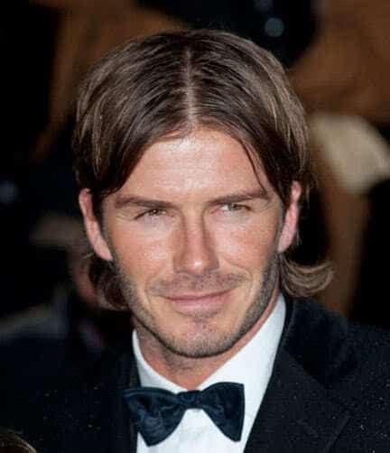 mens hairstyles parted in middle 8 hottest david beckham beards to get attraction beardstyle