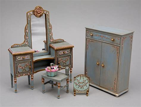 small doll houses 1 12 scale dollhouse miniature shabby chic styled furniture by cdhm artisan alice
